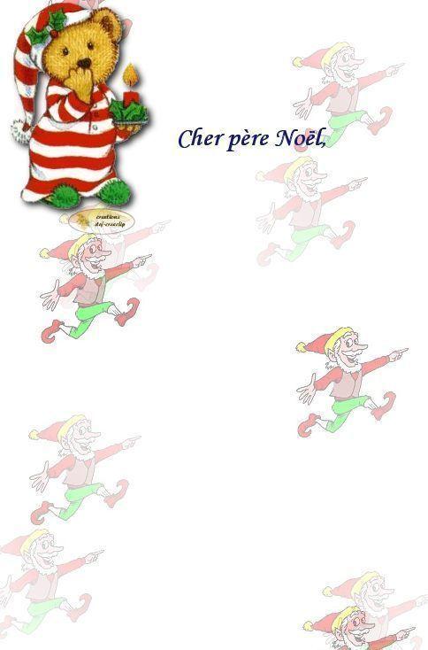 Lettre au pere noel - Lettre de noel a imprimer ...
